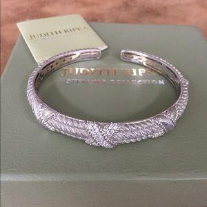 Judith Ripka X Bangle bracelet sterling silver
